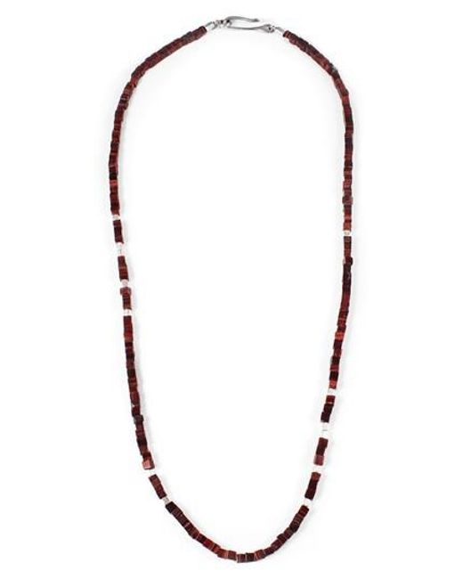 George Frost - Metallic Life Morse Beaded Necklace - Lyst