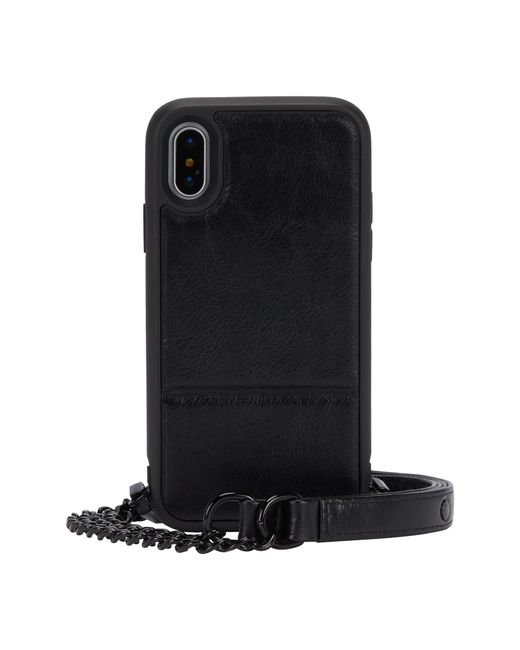 Rebecca Minkoff - Black Off The Chain Iphone X/xs Crossbody Case - - Lyst