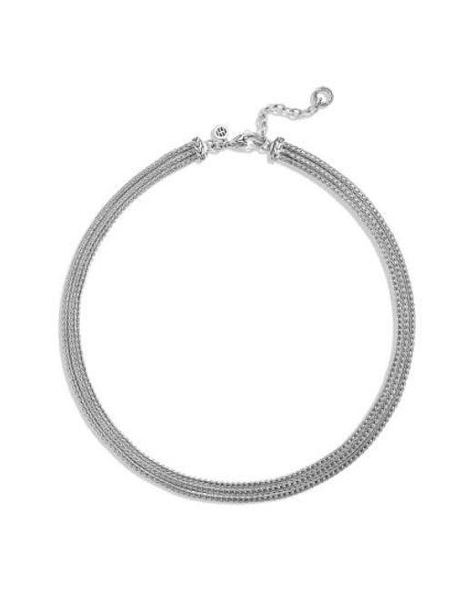John Hardy | Metallic 'classic Chain' Three Row Collar Necklace | Lyst