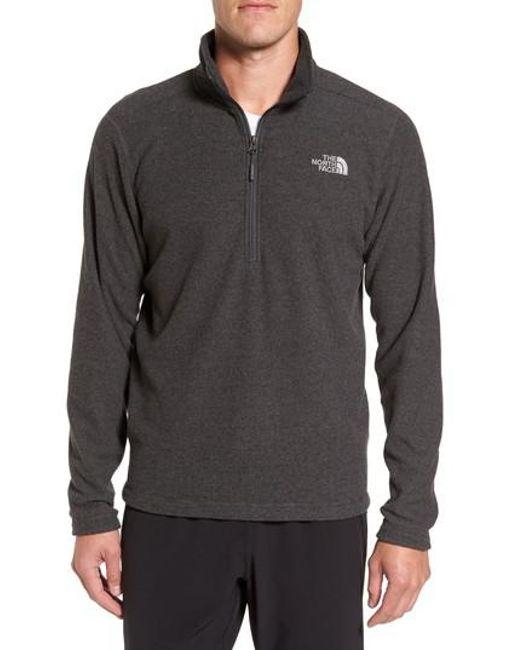 The North Face | Gray Texture Cap Rock Quarter Zip Fleece Jacket for Men | Lyst