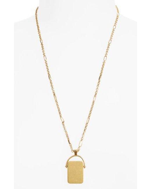 Madewell   Metallic Spinning Pendant Necklace   Lyst