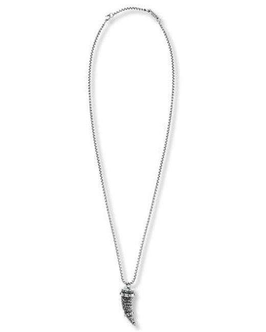 Steve Madden - Metallic Hammered Horn Pendant Necklace - Lyst