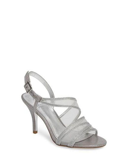 Adrianna Papell - Metallic Adelphi Asymmetrical Mesh Sandal - Lyst