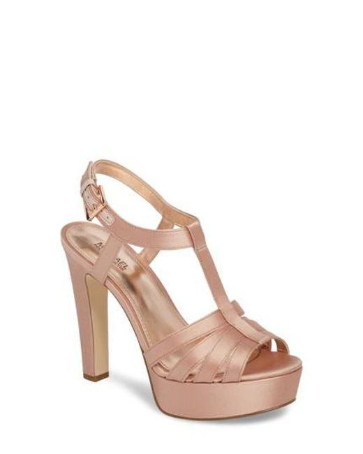 MICHAEL XSNpEq2cgK SANDRA PLATFORM - High heeled sandals - terra c4MpS7cp