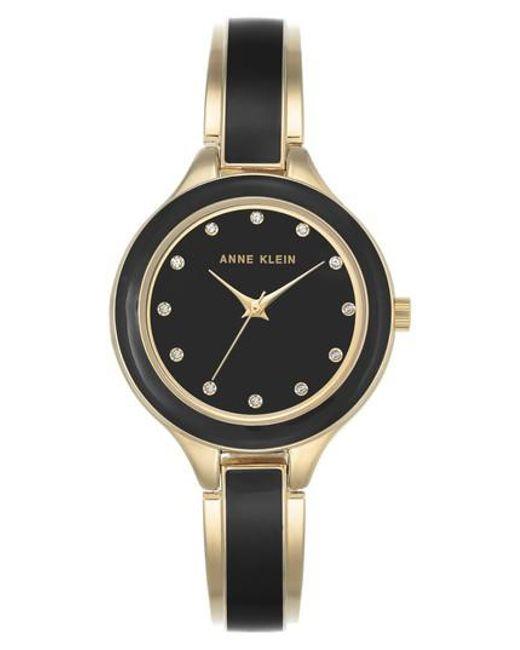 Anne Klein   Metallic Enamel Bangle Watch   Lyst