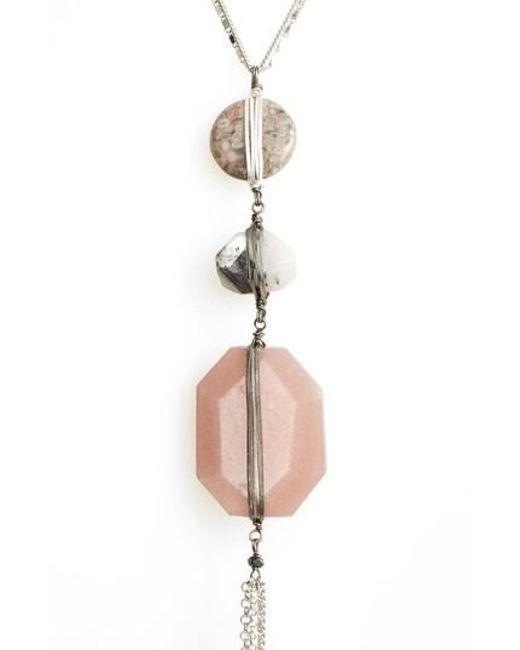 Nakamol - Multicolor Triple Stone Y-necklace - Lyst