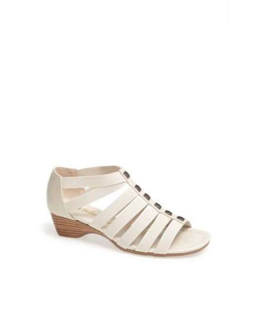 Bella Vita | White 'paula Ii' Sandal | Lyst