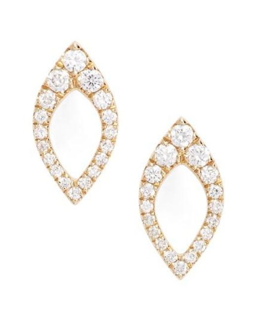 Dana Rebecca   Metallic Marquise Diamond Studs   Lyst