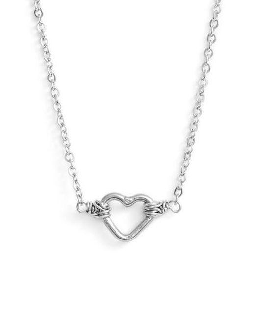 Nashelle | Metallic Mini Open Heart Pendant Necklace | Lyst