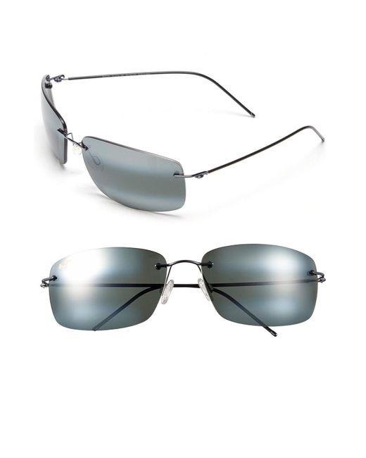 Maui Jim - Gray 'frigate - Polarizedplus2' 65mm Polarized Sunglasses - Gunmetal Blue/ Neutral Grey for Men - Lyst
