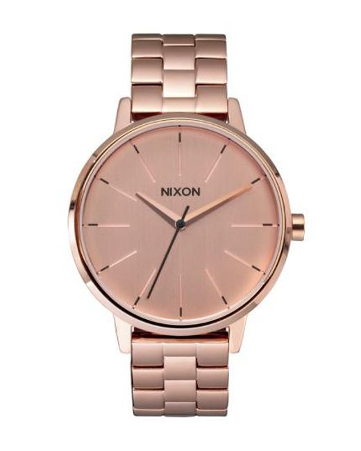 Nixon | Metallic 'the Kensington' Round Bracelet Watch | Lyst