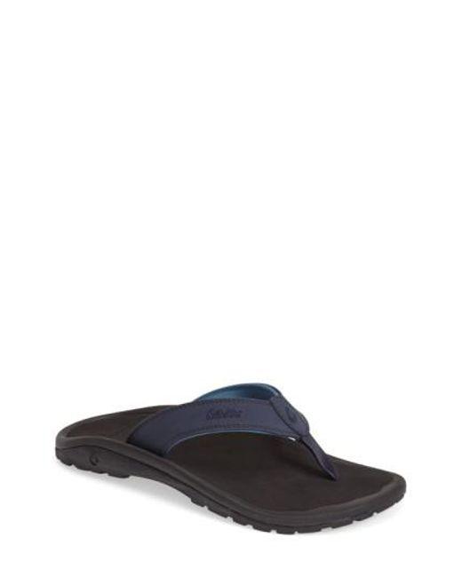 Olukai - Blue 'ohana' Flip Flop for Men - Lyst
