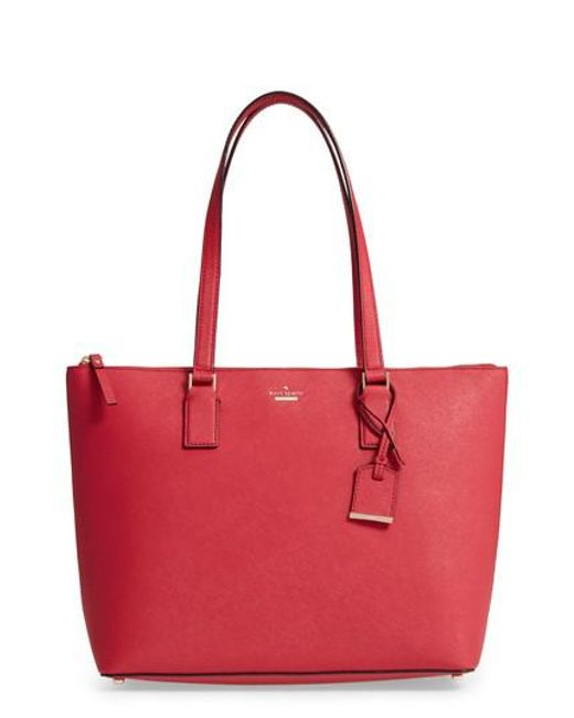 Kate Spade | Red 'cameron Street - Lucie' Tote | Lyst