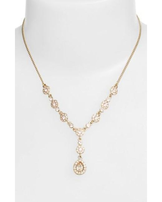 Givenchy - Metallic Pave Crystal Y-necklace - Lyst