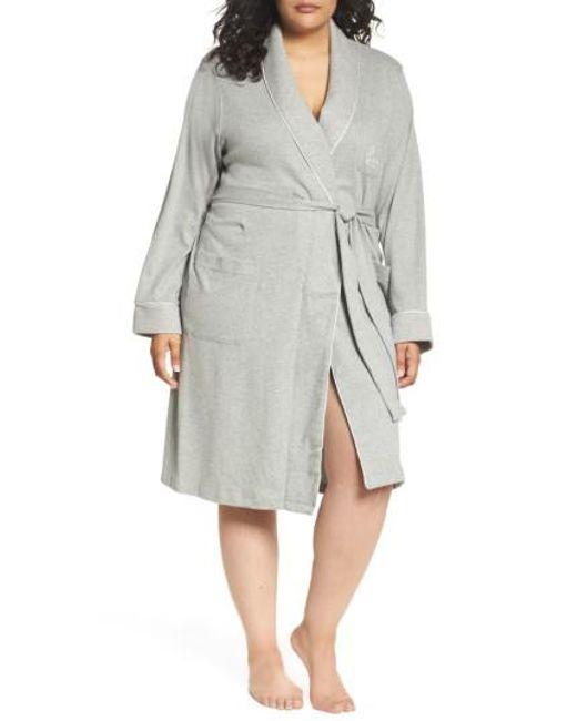 Lauren by Ralph Lauren | Gray Shawl Collar Robe | Lyst