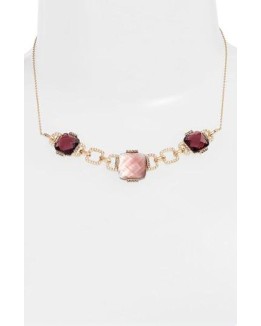 Judith Jack | Pink Frontal Collar Necklace | Lyst