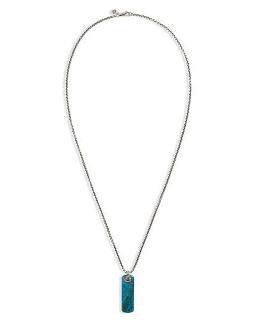 Lyst john hardy classic chain chrysocolla pendant necklace in metallic john hardy metallic classic chain chrysocolla pendant necklace lyst mozeypictures Images