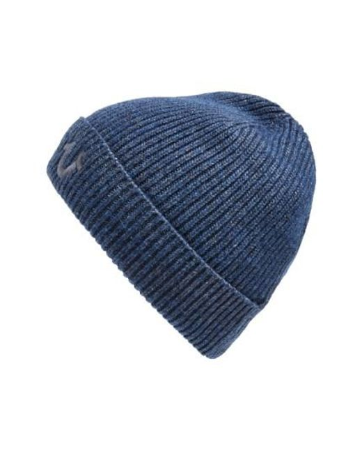 True Religion | Blue Rib Knit Cap for Men | Lyst