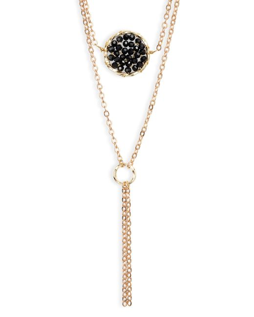 Panacea - Metallic Beaded Circle Layered Necklace - Lyst
