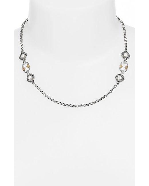 Konstantino | Metallic 'selene' Station Necklace | Lyst