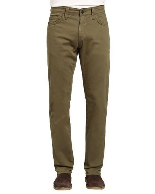 Mavi Jeans - Green Zach Straight Fit Twill Pants for Men - Lyst