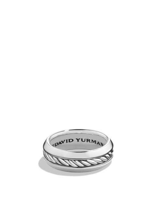David Yurman - Metallic 'classic Cable' Band Ring for Men - Lyst