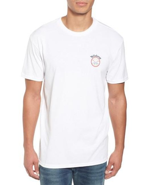 Billabong   White Rover Graphic T-shirt for Men   Lyst