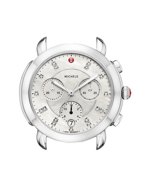 Michele - Multicolor Sidney Chronograph Diamond Watch Head - Lyst