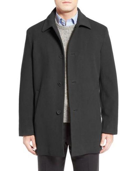 Cole Haan | Gray Italian Wool Blend Overcoat for Men | Lyst