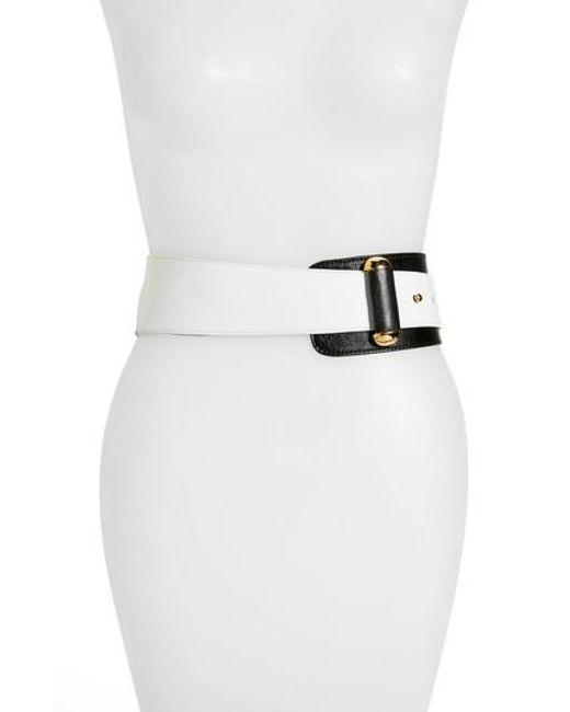 Raina   White Vixen Leather Belt   Lyst