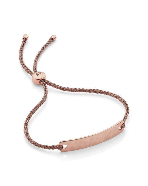 Monica Vinader Metallic Engravable Havana Mini Friendship Bracelet