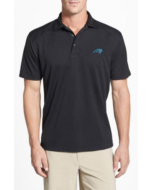 Cutter & Buck - Black 'Carolina Panthers - Genre' Drytec Moisture Wicking Polo for Men - Lyst