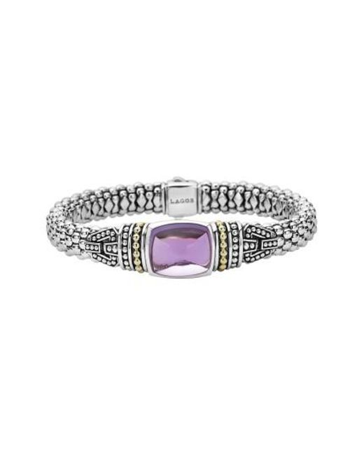 Lagos | Purple 'caviar Color' Semiprecious Stone Bracelet | Lyst