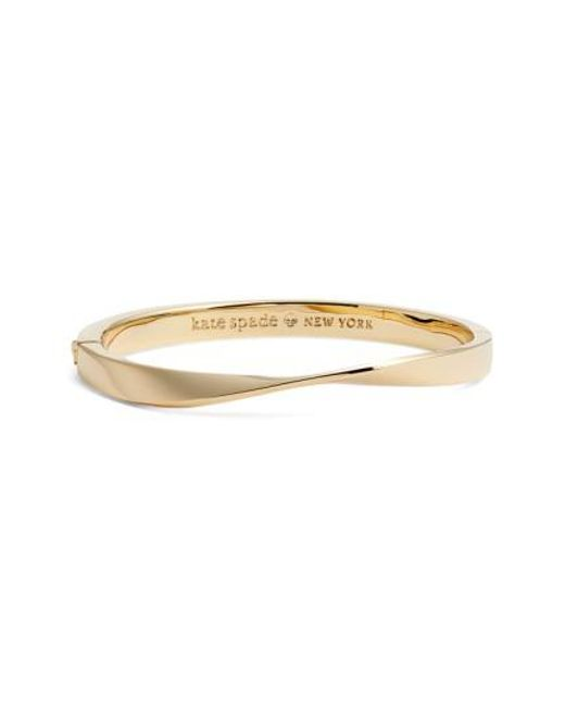 Kate Spade | Metallic Do The Twist Hinge Bangle | Lyst