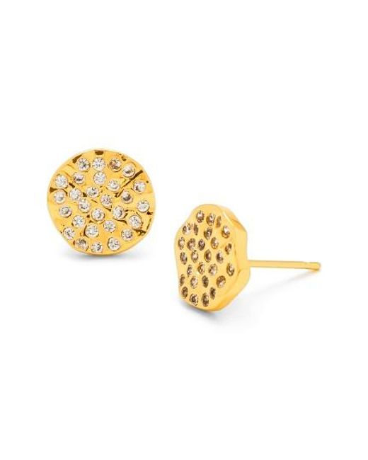 Gorjana | Metallic 'aurora' Pave Stud Earrings | Lyst