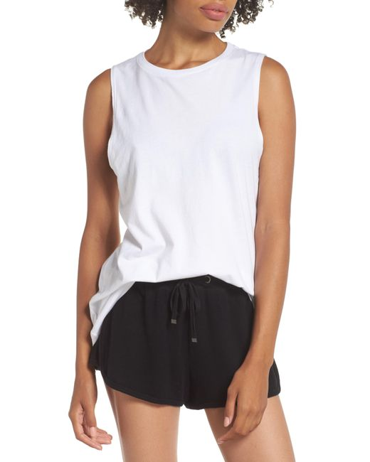 Richer Poorer - White Muscle Tank - Lyst