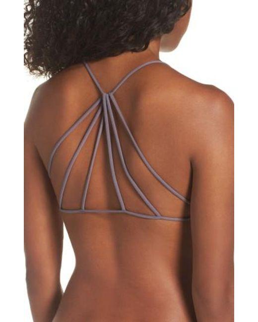 Free People   Gray Seamless Ruched Bikini Top   Lyst