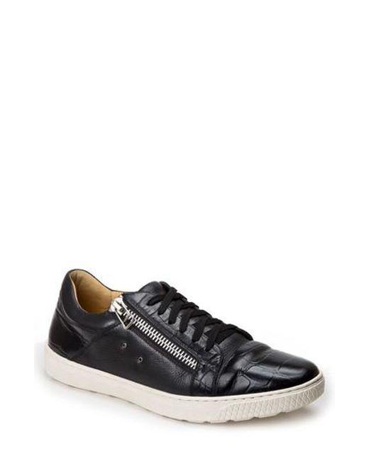 Sandro Moscoloni | Black Cassius Side Zip Sneaker for Men | Lyst