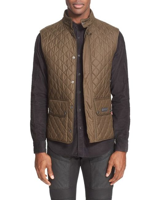 Belstaff | Green Technical Quilted Vest for Men | Lyst