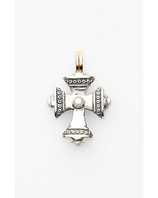 Konstantino | Metallic 'kassandra' Small Maltese Cross Pendant | Lyst