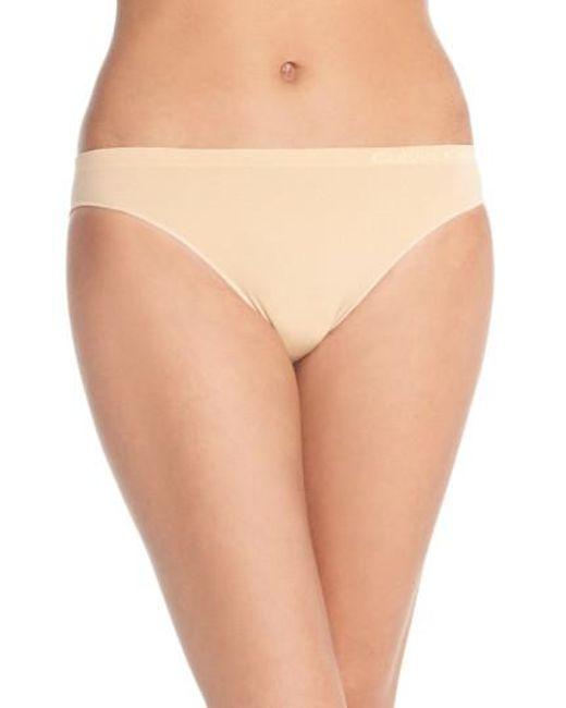 Calvin Klein | Natural 'pure' Seamless Bikini | Lyst