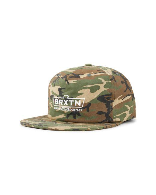 Brixton - Green Cruss Mp Snapback Baseball Cap for Men - Lyst