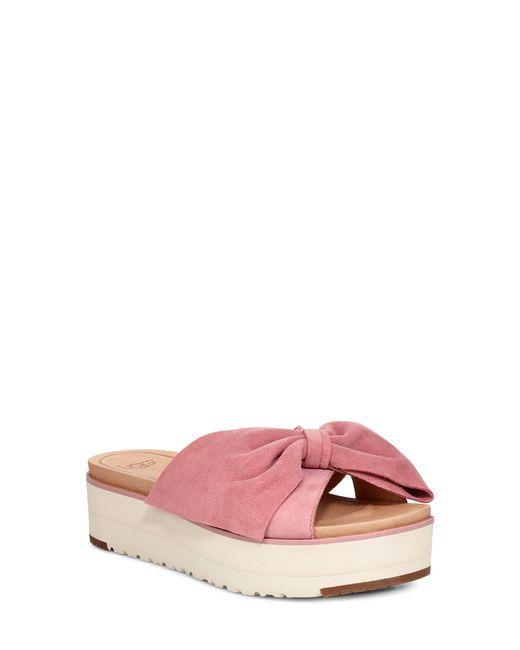 bd95b8e04443 Lyst - UGG Ugg Joan Ii Platform Slide Sandal in Pink