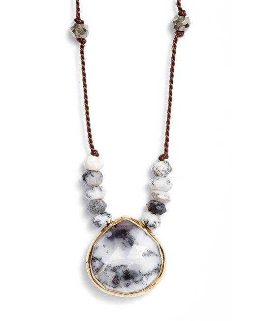 Ela Rae - Brown Sylvie Semiprecious Stone Necklace - Lyst
