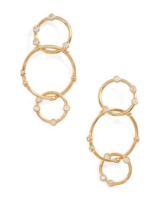 Melinda Maria - Metallic Link Drop Earrings - Lyst