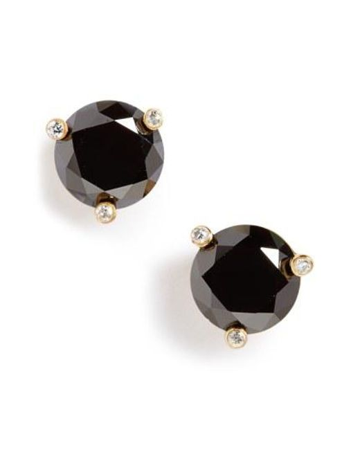 Kate Spade - Black 'rise And Shine' Stud Earrings - Lyst