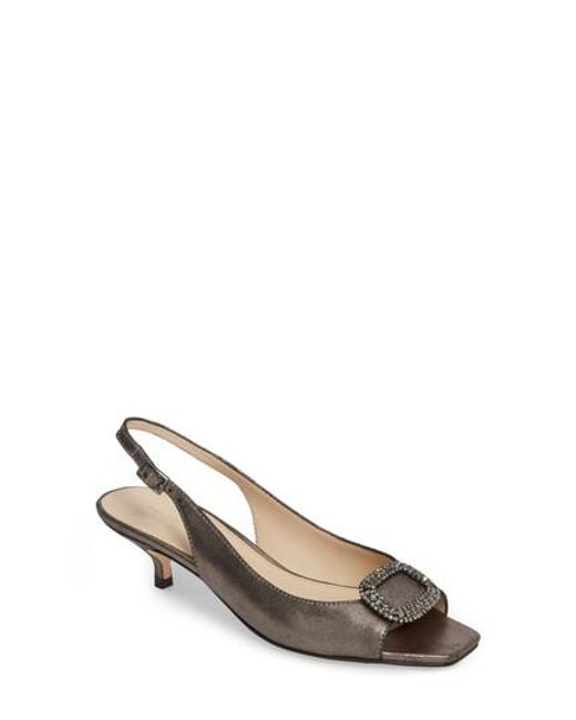 Pelle Moda - Metallic Fresca Slingback Sandal - Lyst