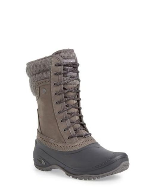 The North Face | Brown Shellista Waterproof Insulated Snow Boot | Lyst