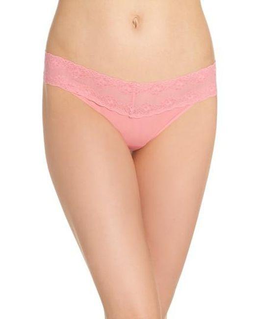 Natori - Pink Bliss Perfection Thong - Lyst