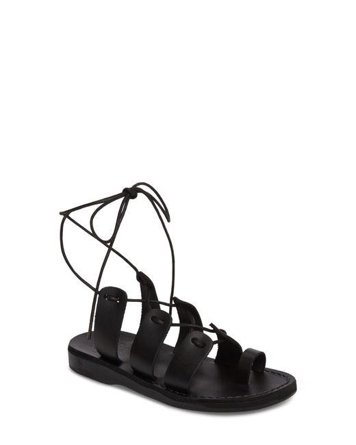 Jerusalem Sandals - Black Deborah Wraparound Laces Sandal - Lyst